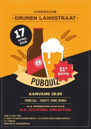 Lionsclub Drunen Langstraat organiseert wederom PubQuiz