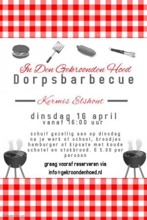 Dorpsbarbecue Kermis Elshout